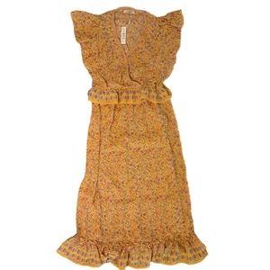 Max Studio Ruffle Sleeveless Floral Print Dress